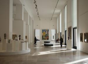 Le hall d'entrée du musée