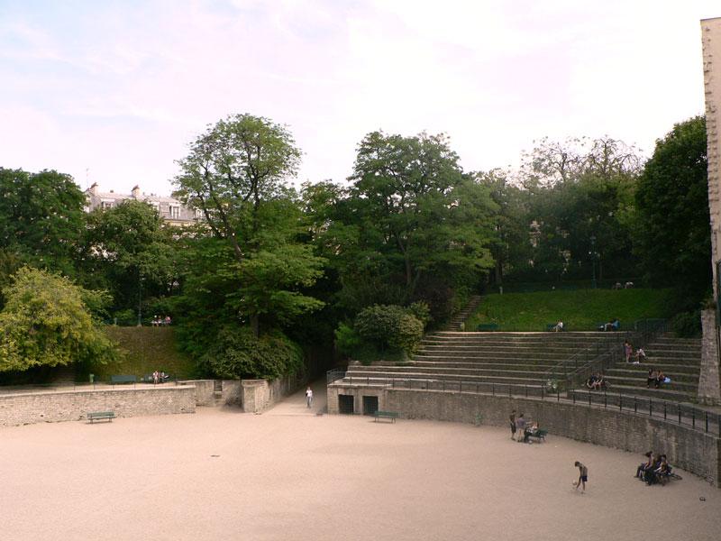 arène principale du jardin