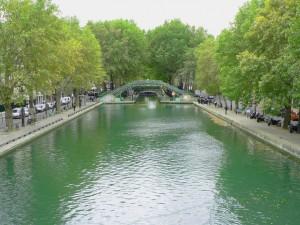 depuis un pont du canal