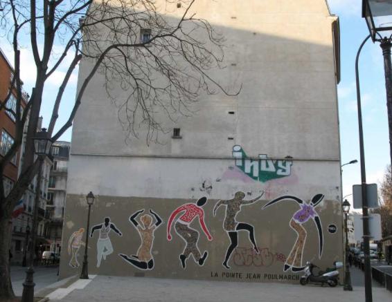 mur rue jean poulmarch