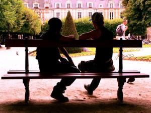 banc du jardin Louis XIII
