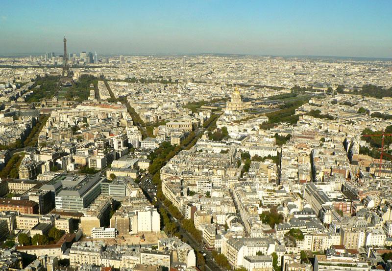Vue depuis la terrasse Montparnasse