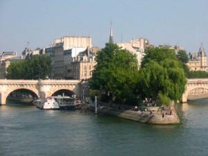 vue depuis le pont des arts