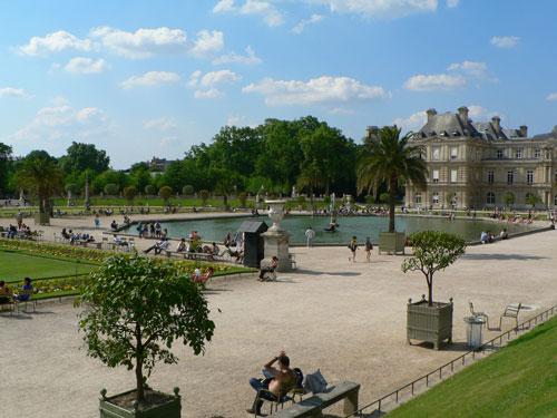 lac central et snat - Jardin Du Luxembourg Paris