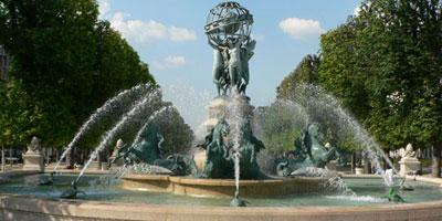 Fontaine des quatre parties du monde, jardin Marco Polo, Paris