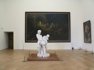 sculpture et tableau