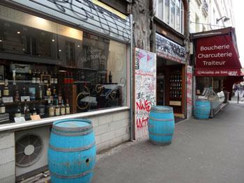Devanture de l'épicerie fine, rue du faubourg Saint-Denis