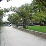 pergolas d'un jardin de la promenade