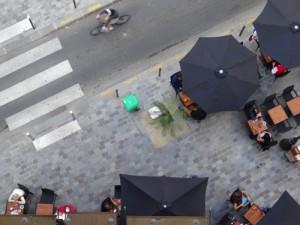 """Terrasse du restaurant """"l'Affiche"""", 16e arrondissement"""