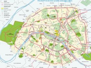 plan des pistes réservées aux cyclistes