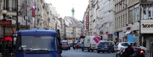 vue de la rue et de la place de la Bastille