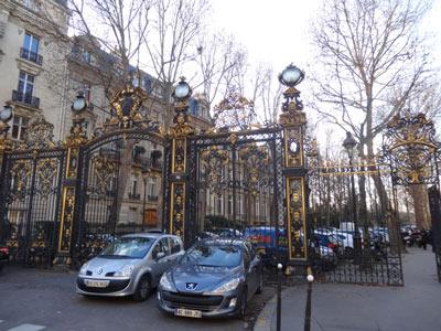 grilles du Parc Monceau et rue Vélasquez