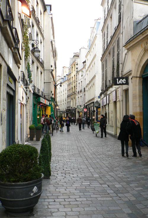 rue des rosiers, dans le Marais