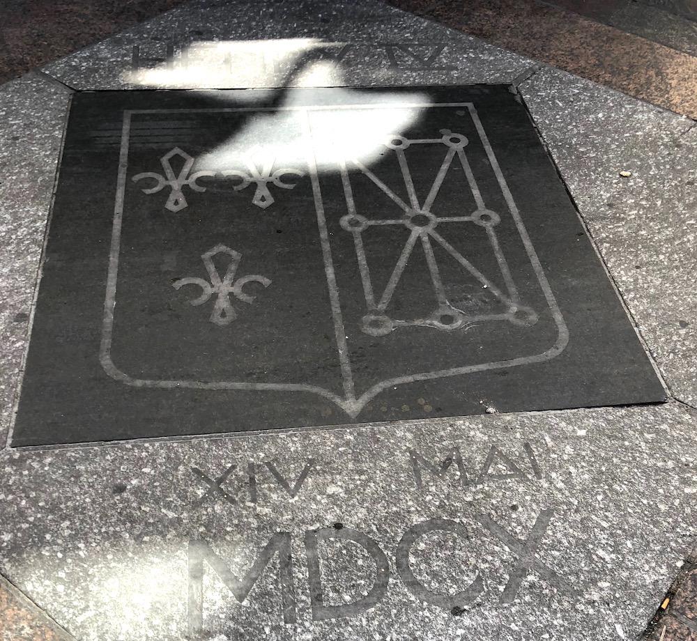 plaque commemorative henri IV