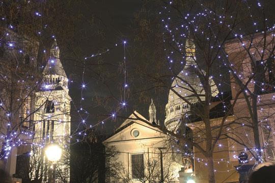 Illuminations de Noël à Montmartre