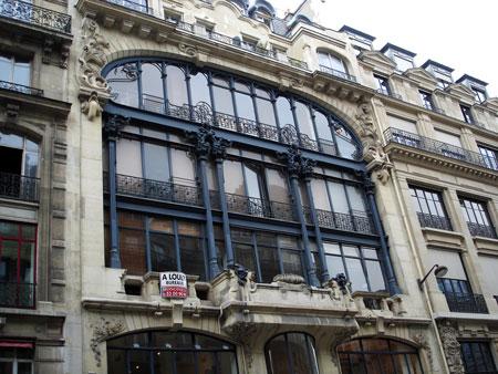 Façade en verrière 118 rue Réaumur