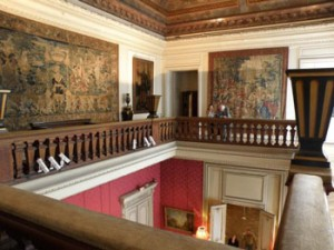 Haut de l'escalier du musée Jacquemart-André