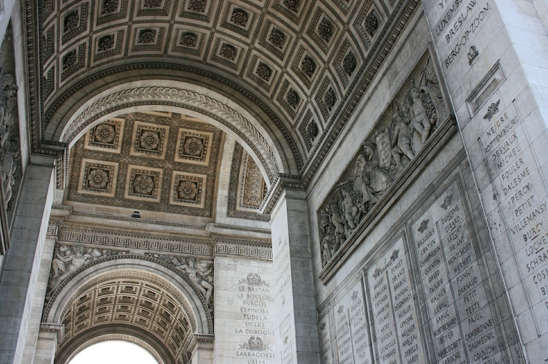 arches arc de triomphe paris
