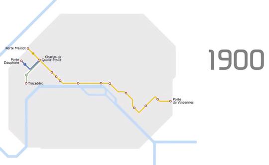 metro paris 1900