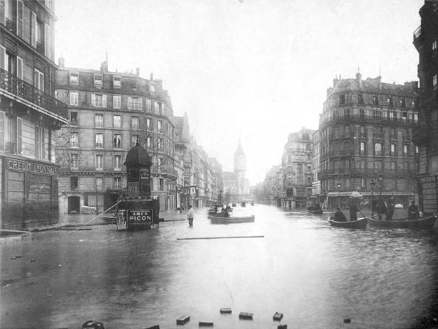crue 1910 paris gare de lyon