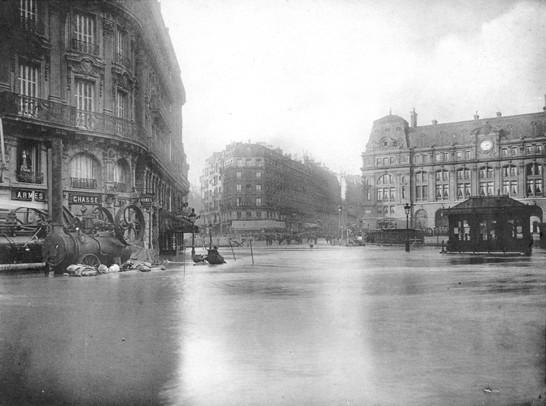 crue 1910 paris gare saint lazare