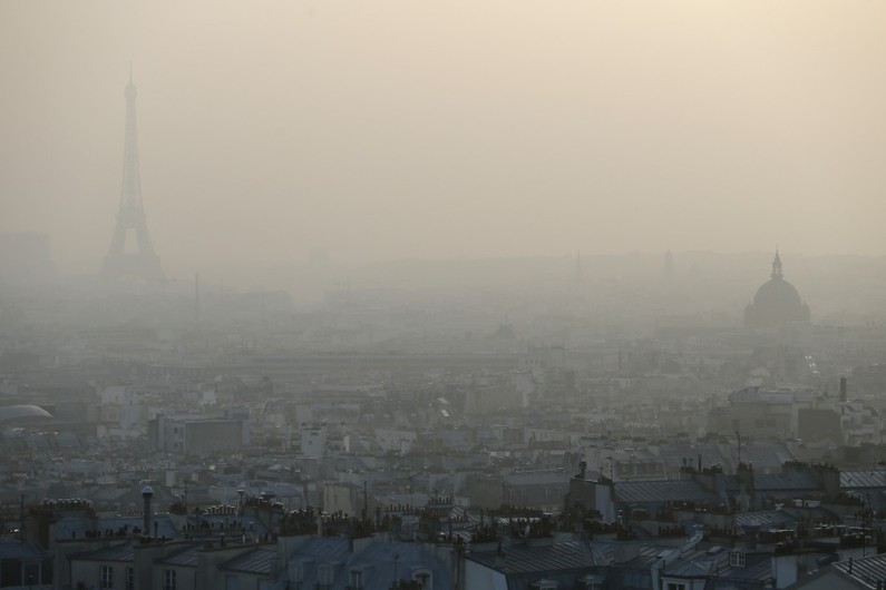 pic de pollution paris afp