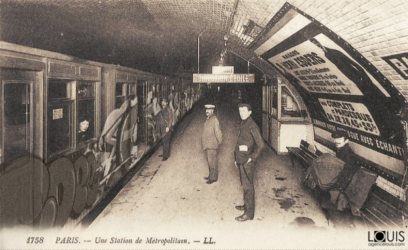 street art paris 1900 metro