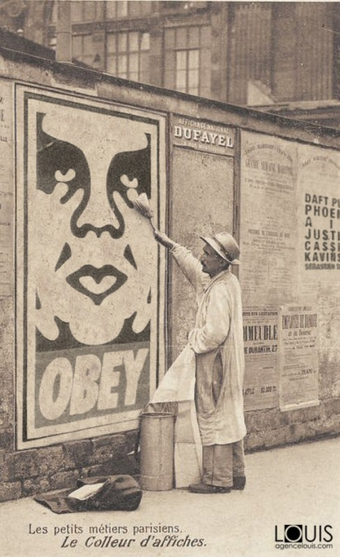 street art paris 1900