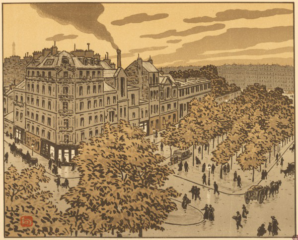 lithographie henri riviere grands boulevards