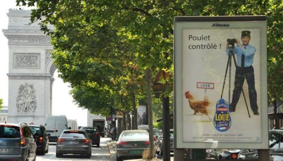 poulet loue police