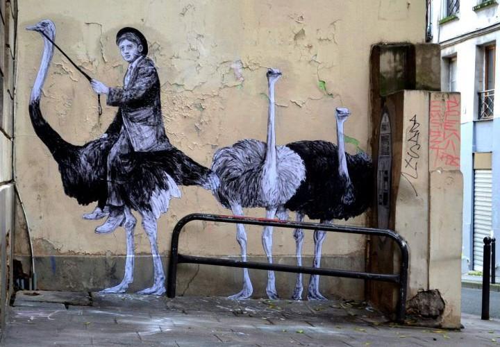 Street Art In Paris Streets Un Jour De Plus à Paris