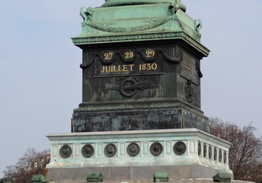 bastille colonne juillet paris