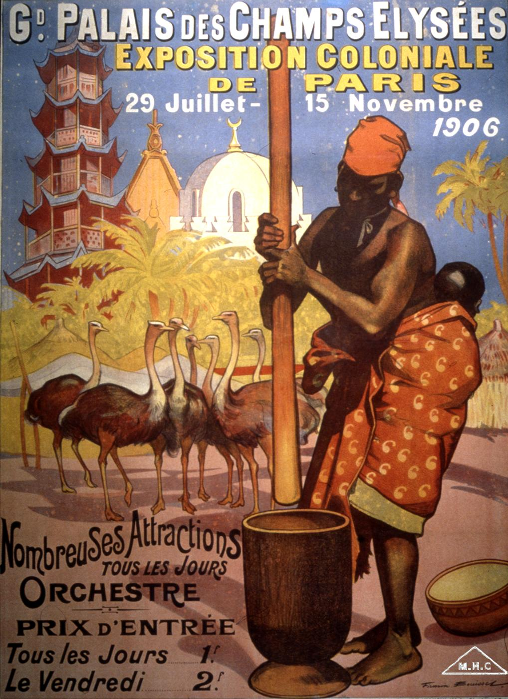 affiche expo coloniale paris