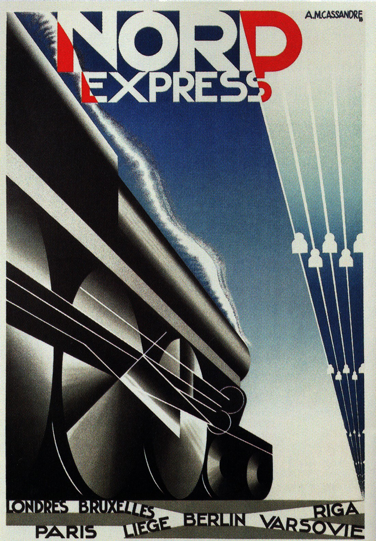 affiche train nord express