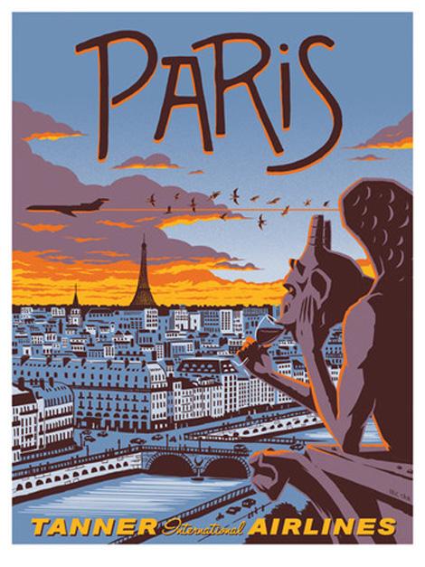 poster voyage paris