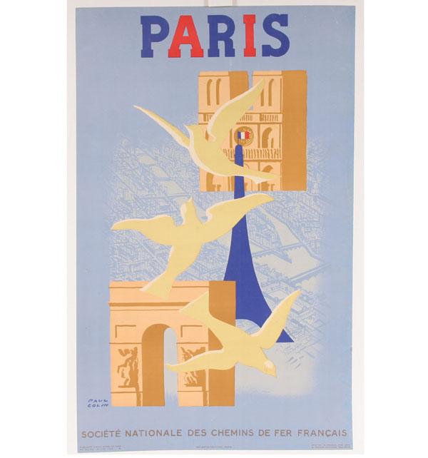 pub paris poster vintage
