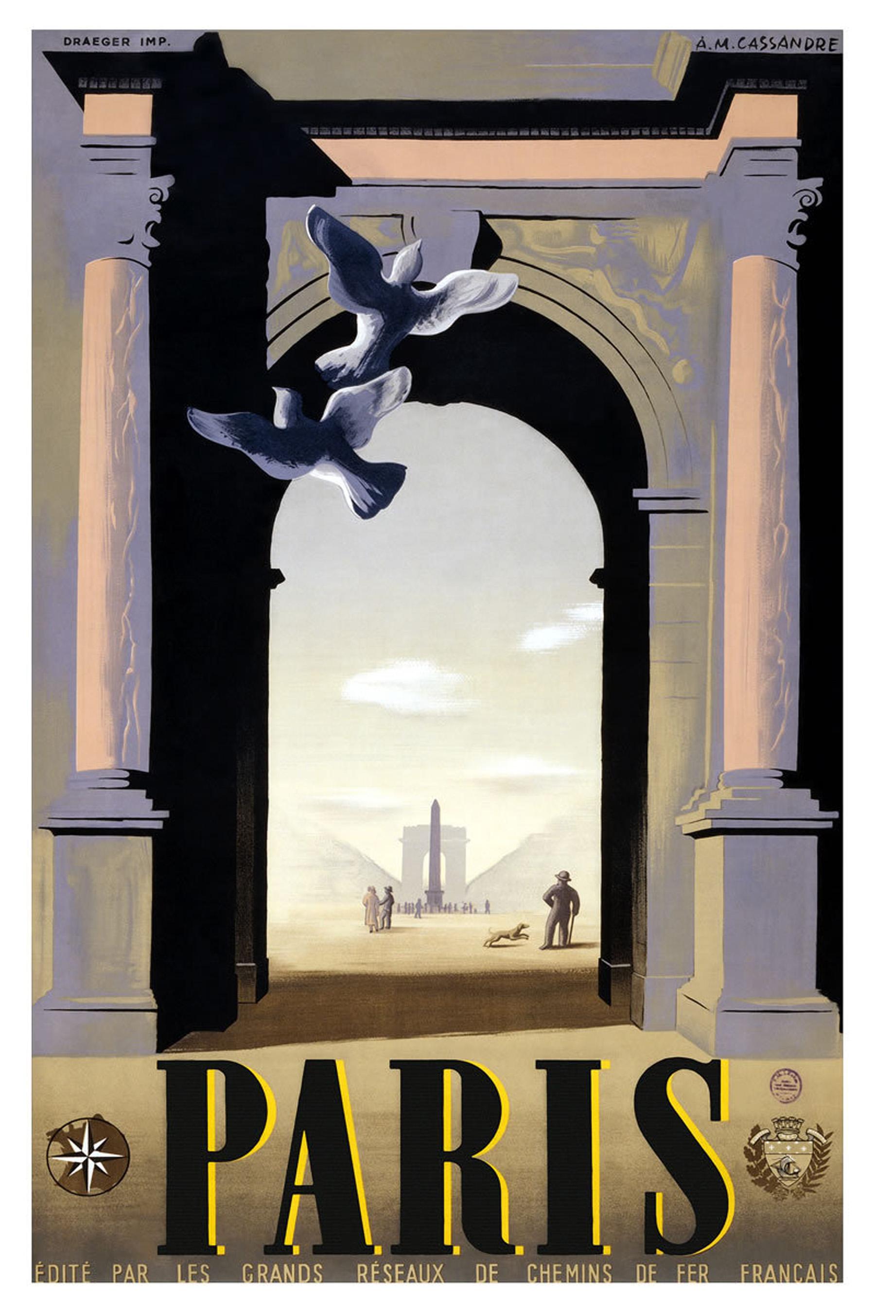 publicite vintage affiche paris