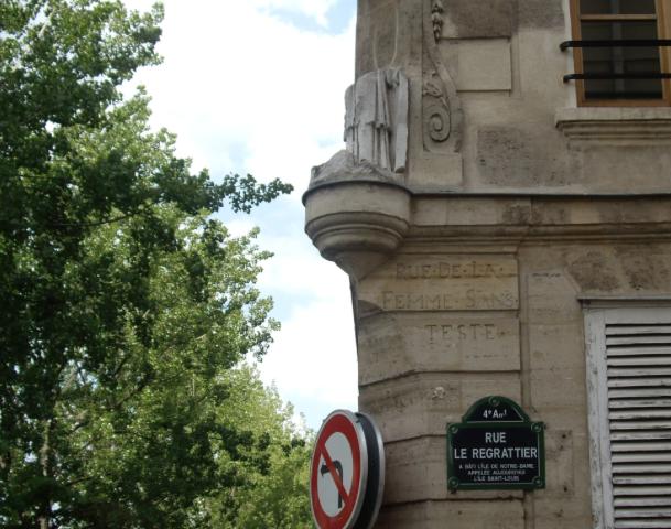 photo rue femme sans teste paris