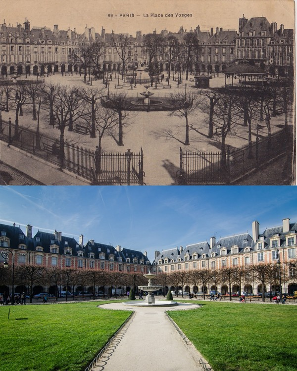 photo avant apres place des vosges
