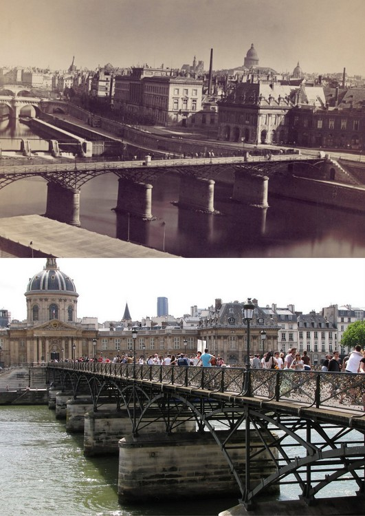 photo avant apres pont des arts