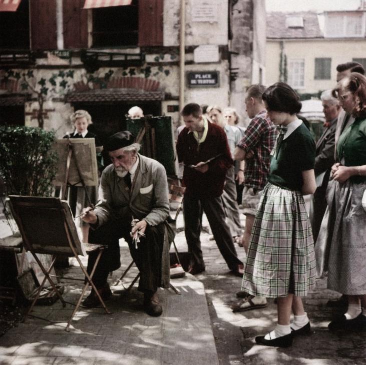 place du tertre montmartre 1952 capa