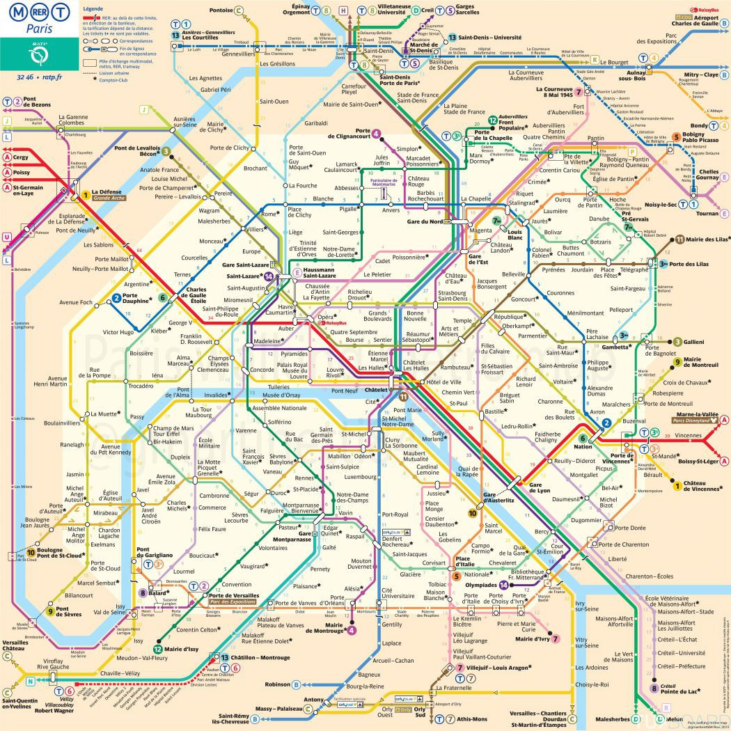 temps marche plan metro paris
