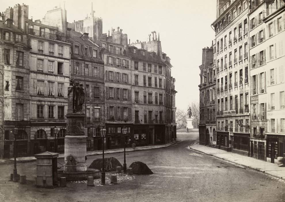 Photo de la Place Dauphine en 1865