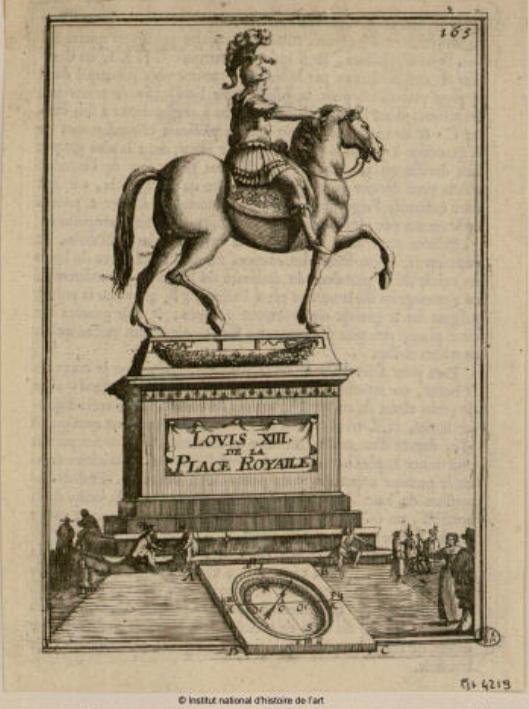 ancienne statue louis XIII place des vosges