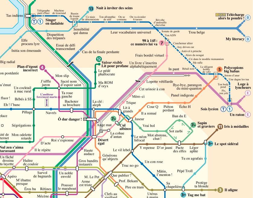 plan metro paris anagramme