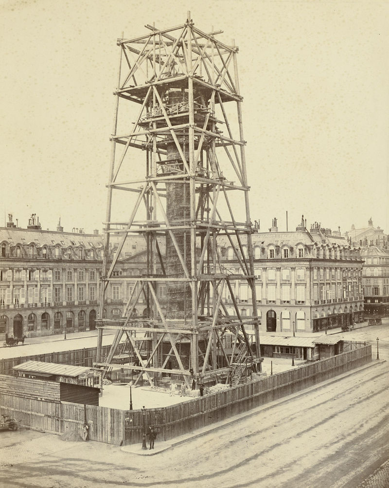reconstruction colonne vendome 1873