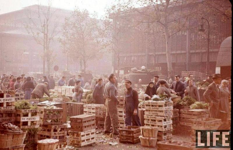anciennes halles de paris 1956