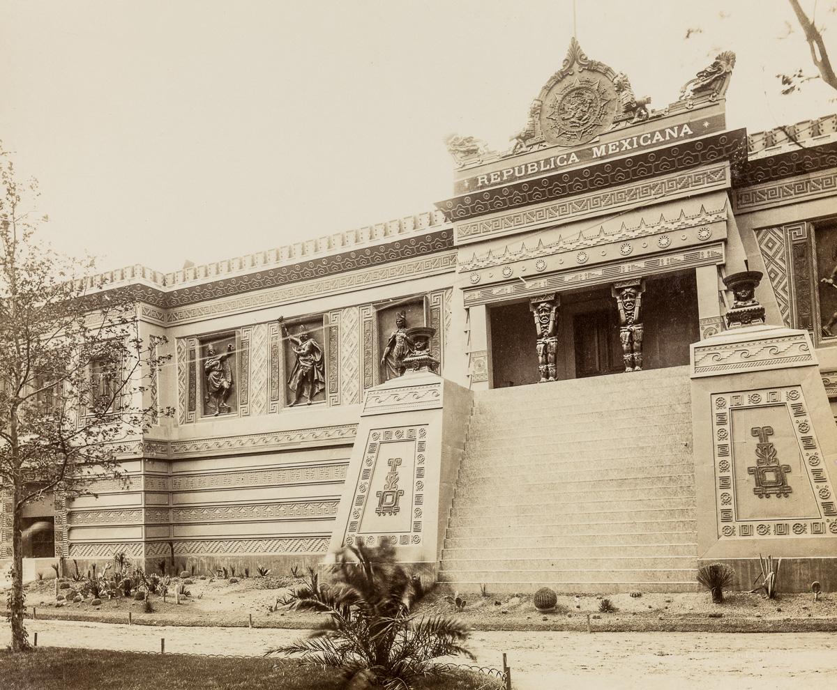 Pavilion,Mexico,Republica,Paris Exposition,buildings,universelle,France,1889