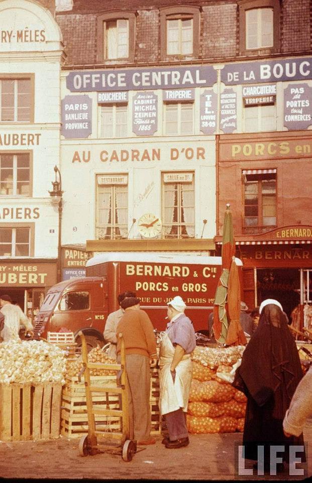 les halles paris 1956 bouchers