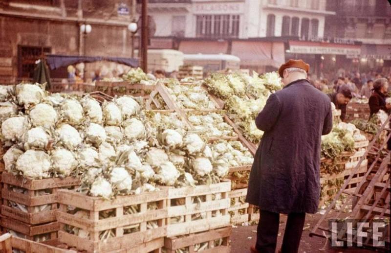 les halles paris 1956 legumes